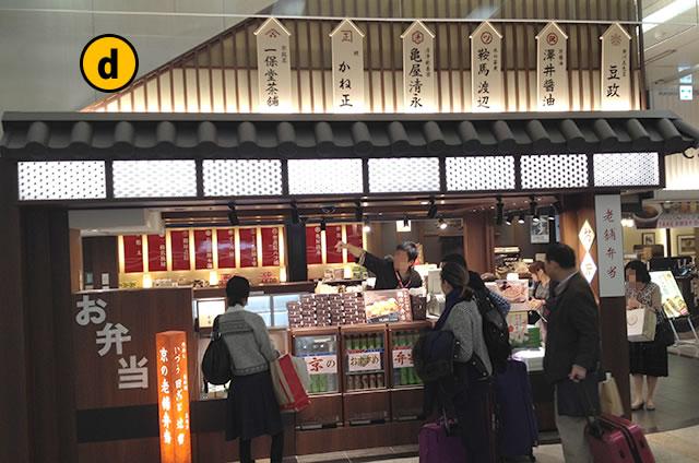 JR京都駅新幹線コンコース構内京の老舗弁当