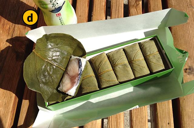 JR京都駅新幹線コンコース老舗のお弁当柿の葉寿司