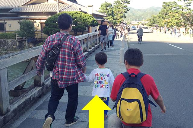 嵐山モンキーパークいわたやまからJR嵯峨嵐山駅トロッコ嵯峨駅への行き方道順05
