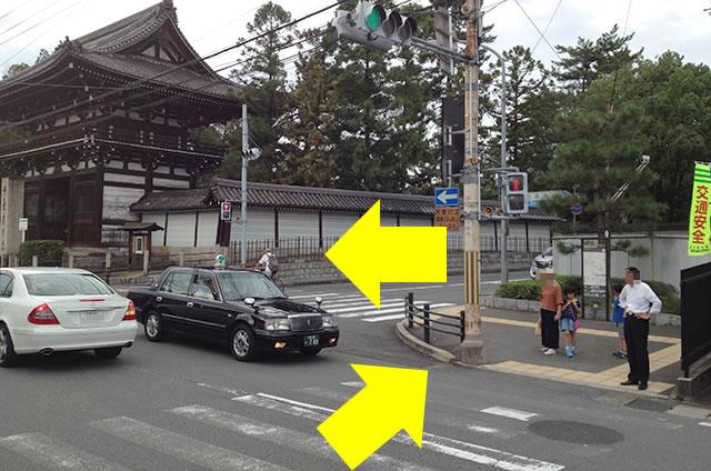 京福(嵐電)太秦広隆寺駅から東映太秦映画村への行き方道順01