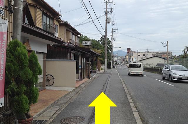 京福(嵐電)太秦広隆寺駅から東映太秦映画村への行き方道順03