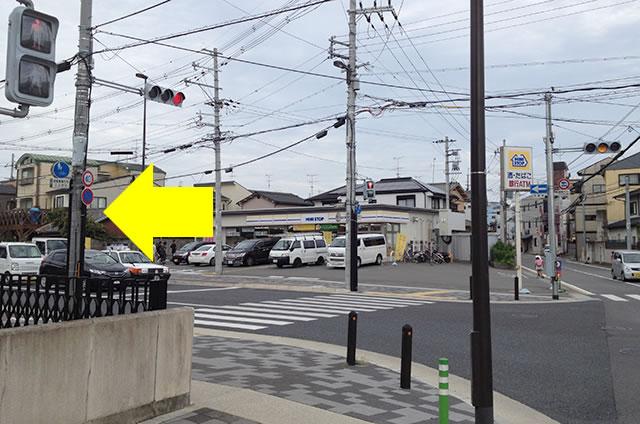 京福(嵐電)太秦広隆寺駅から東映太秦映画村への行き方道順04