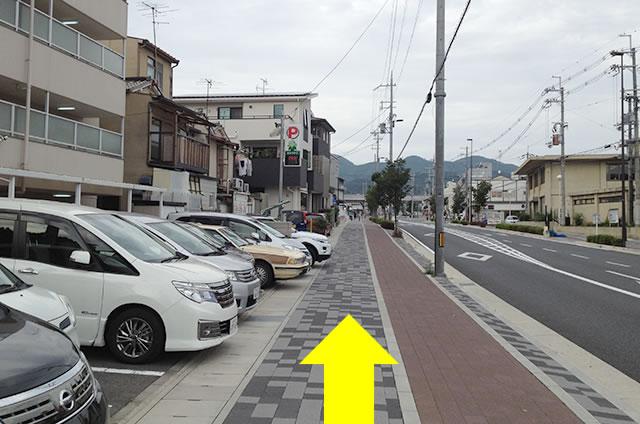 京福(嵐電)太秦広隆寺駅から東映太秦映画村への行き方道順05