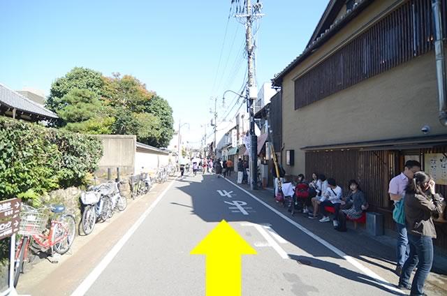 渡月橋からJR嵯峨嵐山駅までの行き方道順02