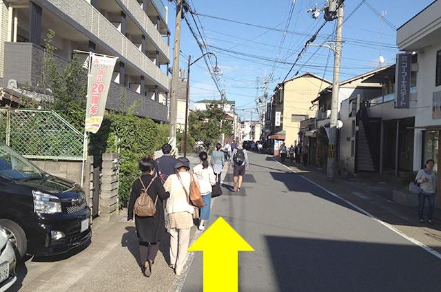 渡月橋からJR嵯峨嵐山駅までの行き方道順03