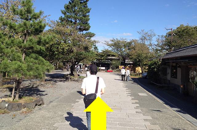 渡月橋から阪急嵐山駅までの行き方道順02
