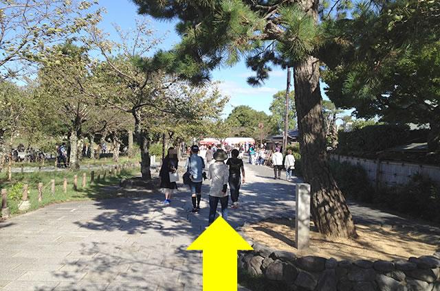 渡月橋から阪急嵐山駅までの行き方道順03