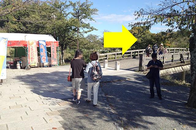 渡月橋から阪急嵐山駅までの行き方道順04