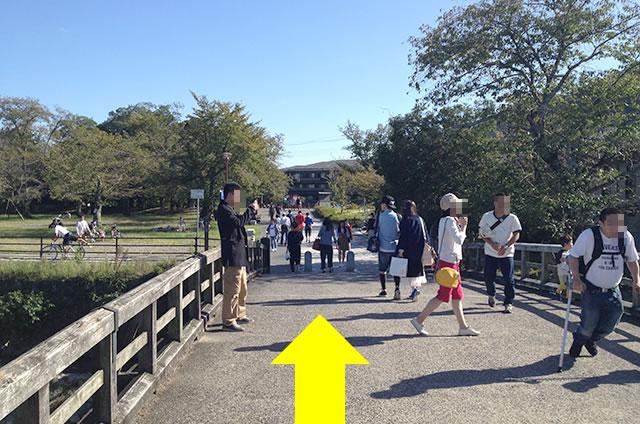 渡月橋から阪急嵐山駅までの行き方道順05
