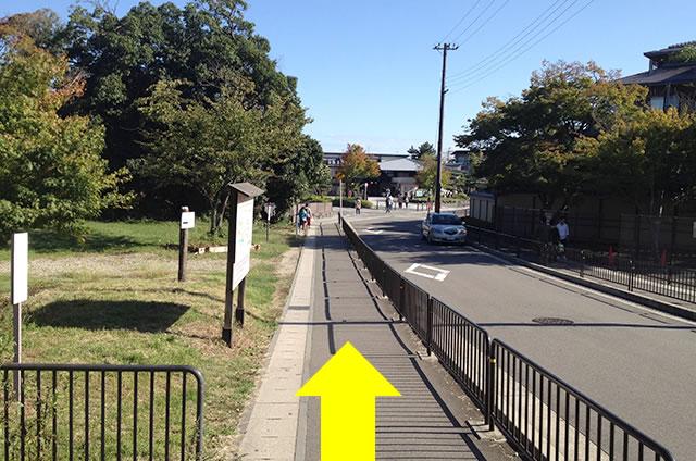 渡月橋から阪急嵐山駅までの行き方道順09