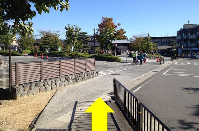 渡月橋から阪急嵐山駅までの行き方道順10