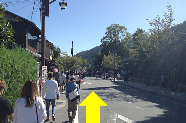トロッコ嵐山駅から嵐山モンキーパークいわたまでの行き方道順16