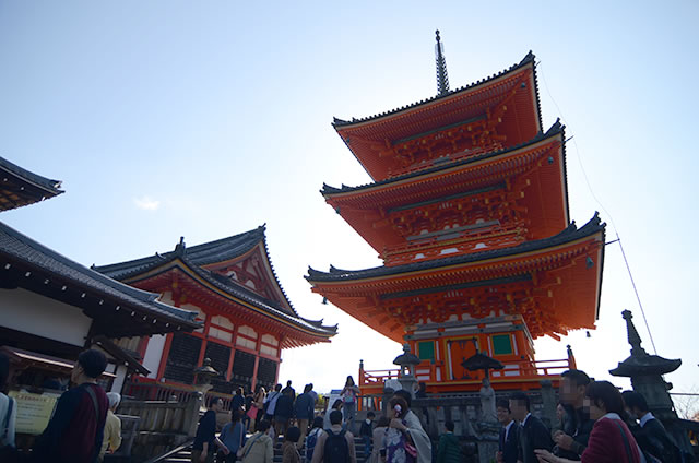 JR京都駅から清水寺までの最速アクセス行き方写真付19三重塔