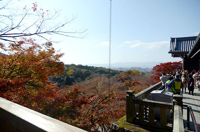 JR京都駅から清水寺までの最速アクセス行き方写真付20清水の舞台