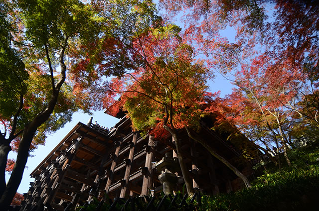 JR京都駅から清水寺までの最速アクセス行き方写真付22清水の舞台を下から