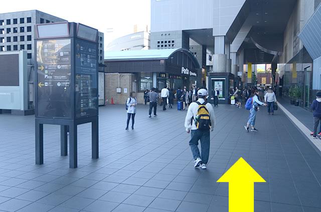 JR京都駅中央口から地下鉄のりばへの行き方道順03