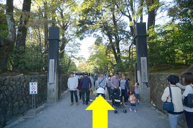 JR京都駅から金閣寺へのアクセス行き方道順10