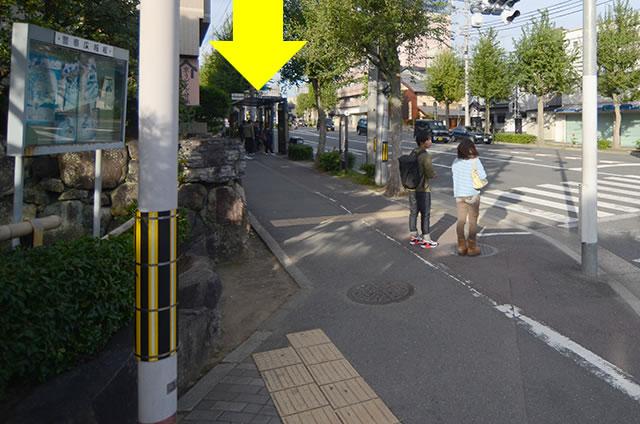 金閣寺から最寄りのバス停への行き方道順06