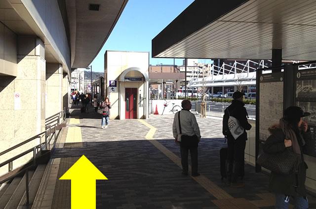 ホテルエルイン京都から京都駅改札口までの最速アクセス行き方03