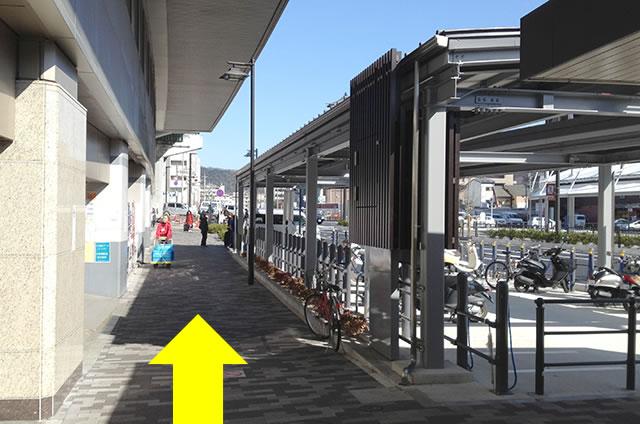ホテルエルイン京都から京都駅改札口までの最速アクセス行き方04