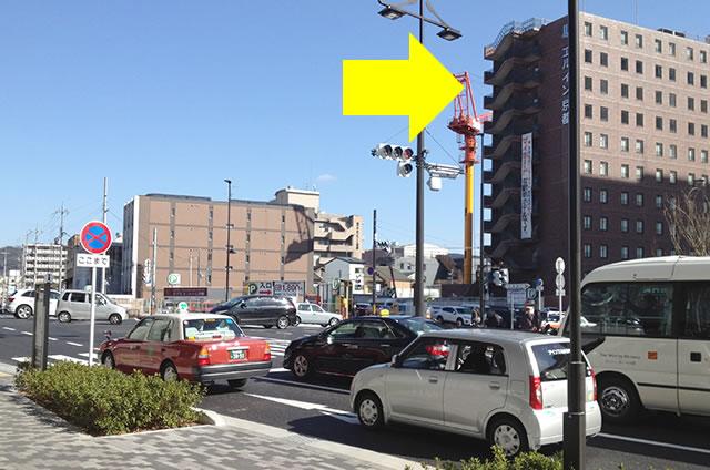 ホテルエルイン京都から京都駅改札口までの最速アクセス行き方05