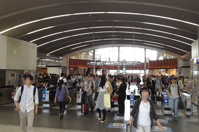 JR京都駅からホテルグランヴィア京都への最速アクセス行き方道順01