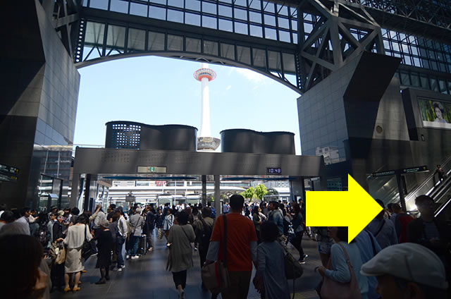 JR京都駅からホテルグランヴィア京都への最速アクセス行き方道順06