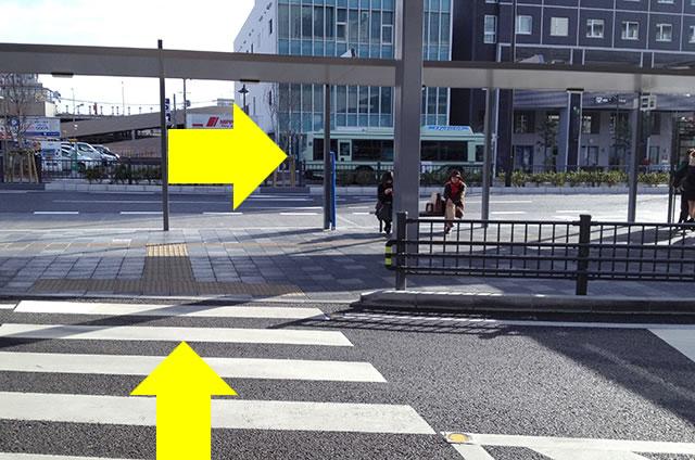 JR京都駅から京お宿 こことまろへの最速アクセス行き方03