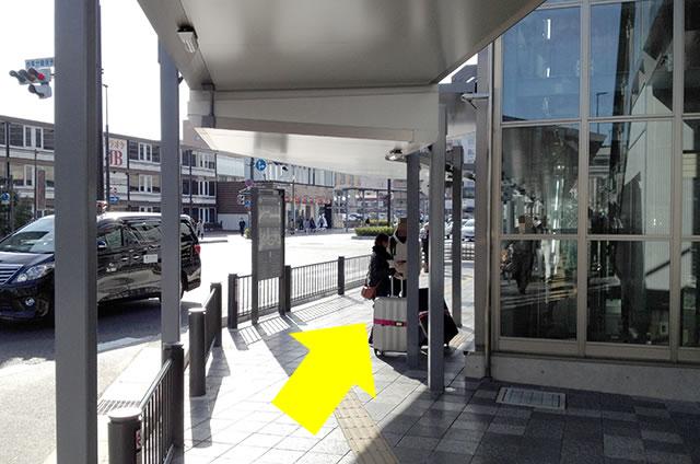 JR京都駅から京お宿 こことまろへの最速アクセス行き方05