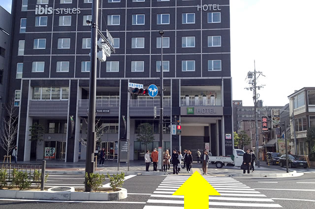 JR京都駅からサクラテラス ザ ギャラリーホテルへの最速アクセス行き方06