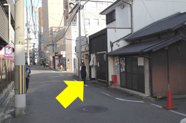 JR京都駅から京お宿 こことまろへの最速アクセス行き方12