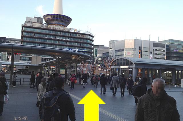 JR京都駅から松本旅館への最速アクセス行き方道順02