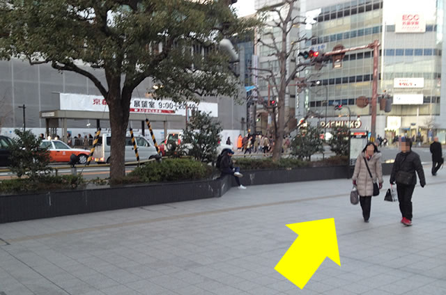 JR京都駅から京都 新阪急ホテルへの最速アクセス行き方道順04