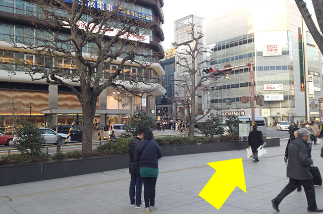 JR京都駅から松本旅館への最速アクセス行き方道順04