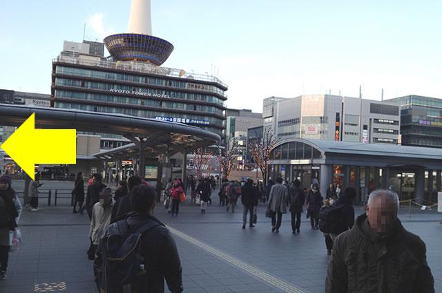 JR京都駅から徒歩1分40秒の穴場コインロッカーまでの行き方道順02
