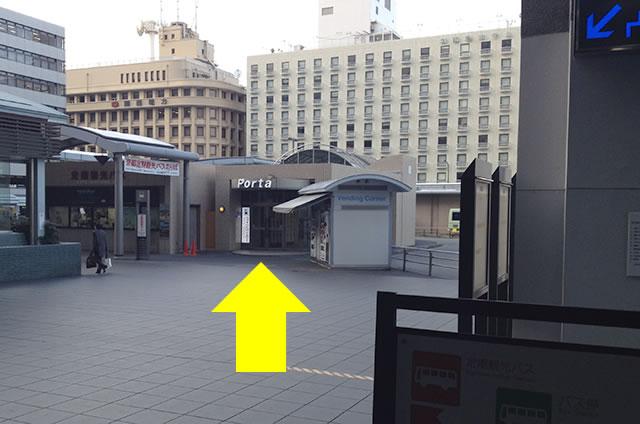 JR京都駅から徒歩1分45秒の穴場コインロッカーまでの行き方道順07