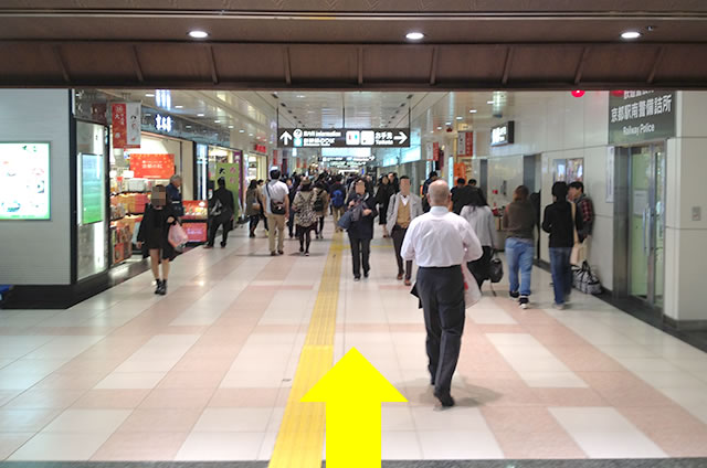 JR京都駅の在来線八条東口から新幹線八条口への行き方道順05