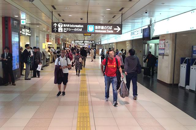 JR京都駅の在来線八条東口から新幹線八条口への行き方道順06