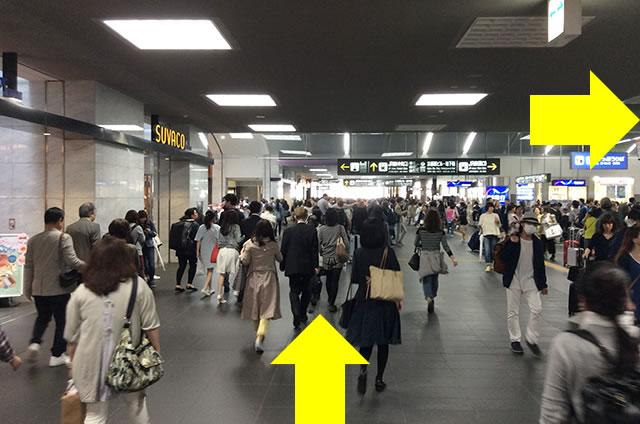JR京都駅在来線八条東口から新幹線八条口への行き方道順04