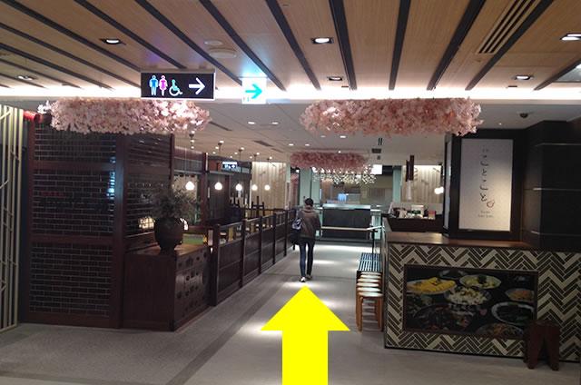 京都駅直結の京都らしいランチ・おばんざい 和食「京都ことこと」への写真付行き方道順12