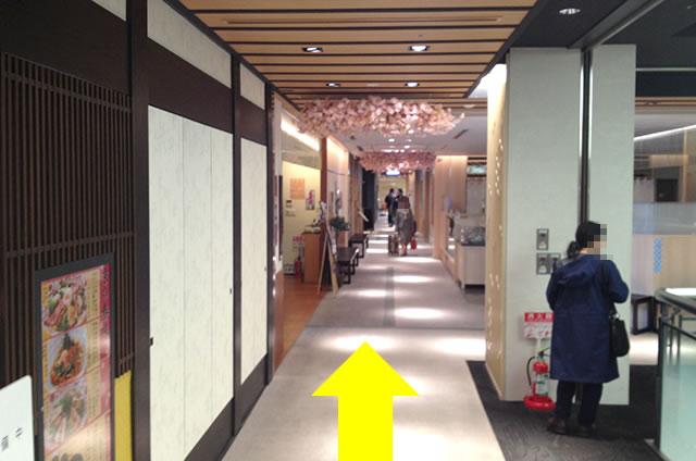 京都駅直結の京都らしいランチ・西京漬けと釜炊きごはん「栄寿庵」への写真付行き方道順14