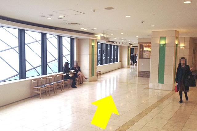 京都駅直結の京都らしいランチ・おとうふ料理 京豆腐「不二乃」への写真付行き方道順12