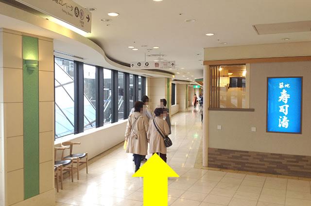 京都駅直結の京都らしいランチ・おとうふ料理 京豆腐「不二乃」への写真付行き方道順13