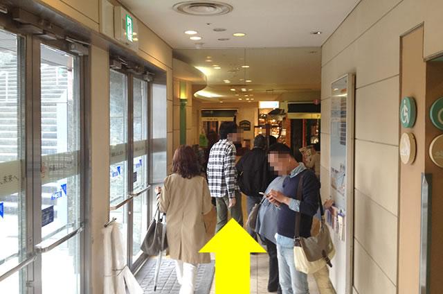 京都駅直結の京都っぽいランチ・料亭「京都 和久傳」への写真付行き方道順15