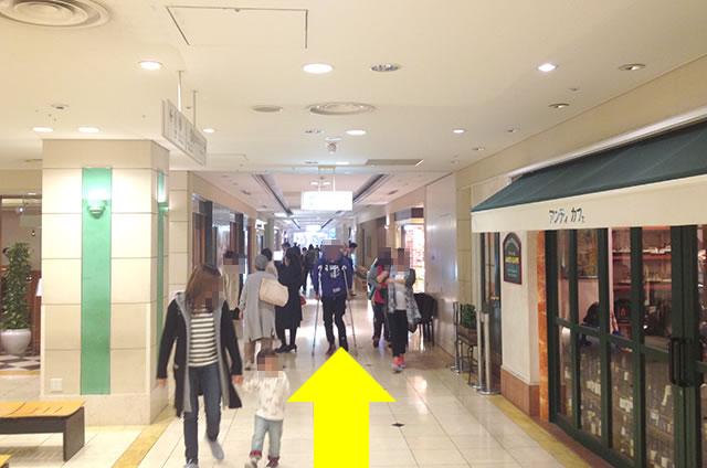 京都駅直結の京都っぽいランチ・料亭「京都 和久傳」への写真付行き方道順17