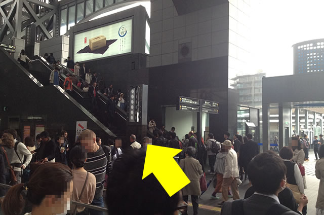 京都駅直結の京都っぽいランチ・茶そば甘味「中村藤吉」への写真付行き方道順02