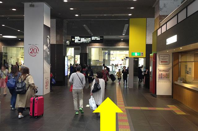 京都駅直結の京都らしいランチ・茶そば甘味「中村藤吉」への写真付行き方道順06