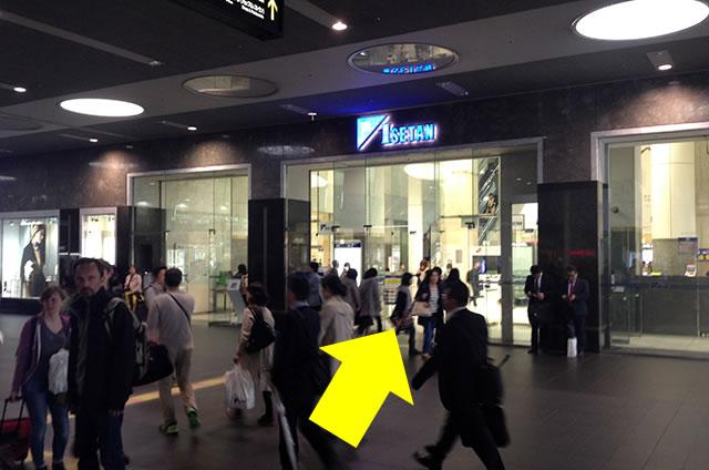 京都駅直結の京都らしいランチ・ゆば料理「松山」への写真付行き方道順07