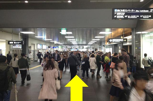 京都駅直結の京都っぽいランチ・茶そば甘味「中村藤吉」への写真付行き方道順08