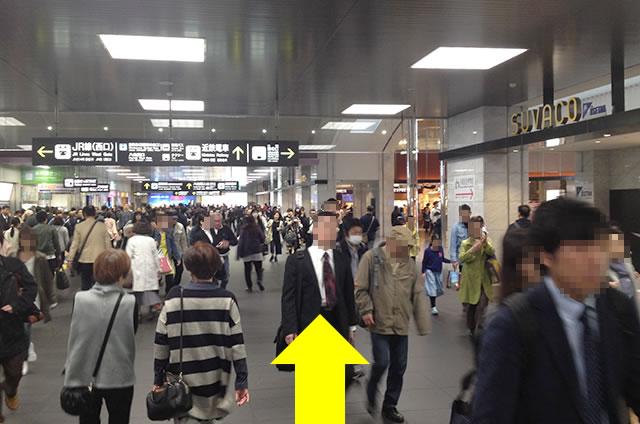 京都駅直結の京都っぽいランチ・茶そば甘味「中村藤吉」への写真付行き方道順09